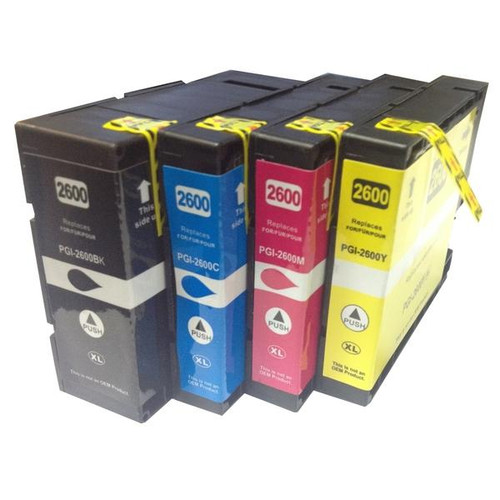 PGI-2600XL Ausjet Premium Pigment Compatible Inkjet Cartridges (Set of 4)