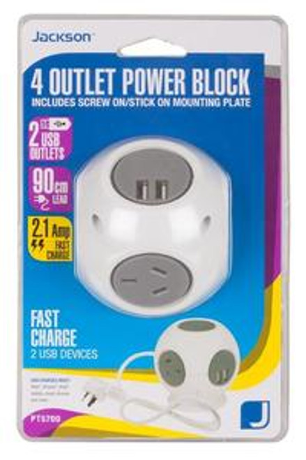 4 Outlet Power Block