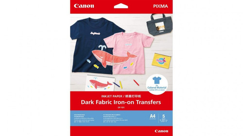 Canon Df-101 Dark Fabric Iron-On Transfers 5 Pack