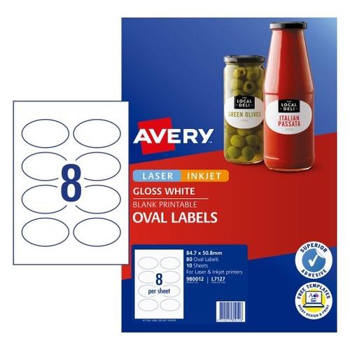 Avery Oval Label