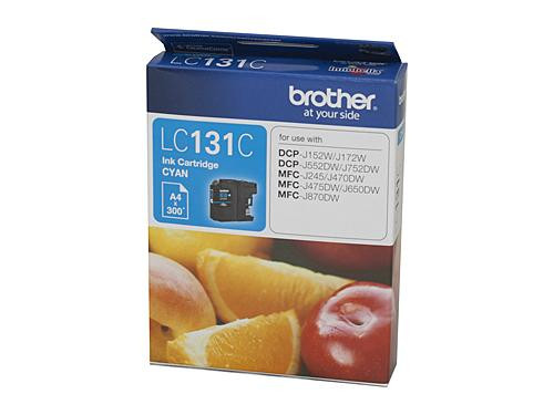 Brother LC131 Cyan Ink Cartridge - up to 300 pages