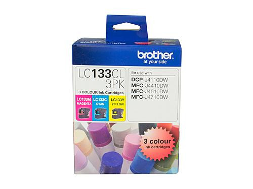 Brother LC133 CMY Colour Pack - up to 600 pages per colour