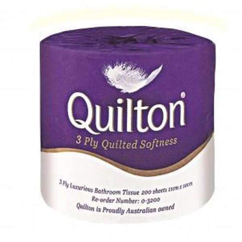 Toilet Roll Quilton 3plyx190sheet, 48's 0-3200 ABC