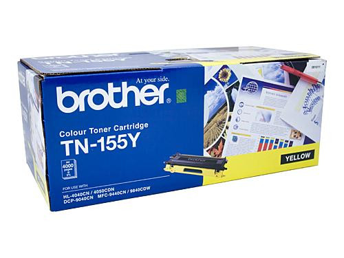 Brother TN155 Y Yellow Toner Cartridge - 4000 pages