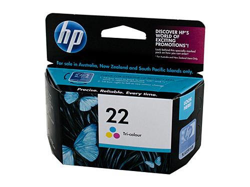 HP 22 Colour Ink Cartridge 170 pages