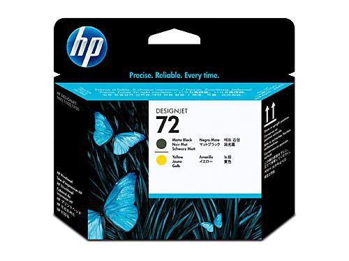 HP 72 Matt Black and Yellow Printhead