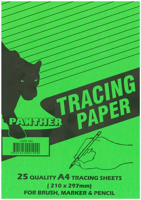 Panther Tracing Paper. A4 Pad of 25 Sheets See variants for Qty discounts