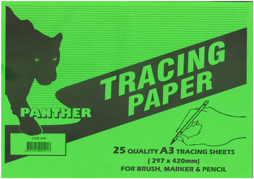 Panther Tracing Paper A3 Pad Of 25 Sheets See Variants For Qty Discounts