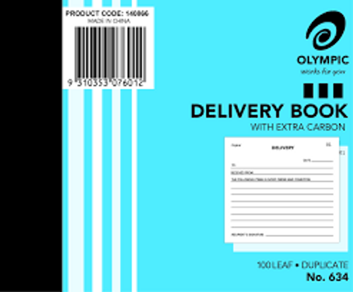 Delivery Book #634 Olympic Duplicate  5X4