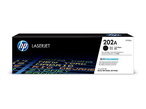 HP #202A Black Toner Cartridge CF500A - 1,400 pages
