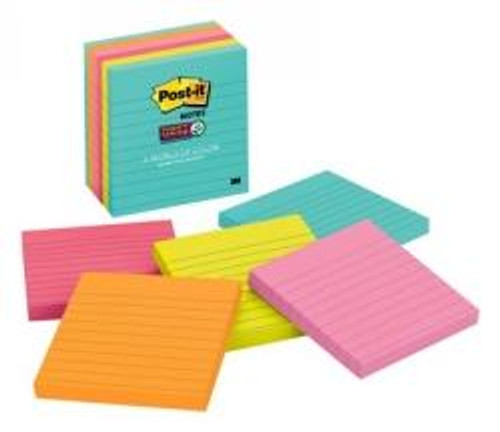 Notes Super Sticky Post-It 100X100Mm 675-6Ssmia Miami Pk6