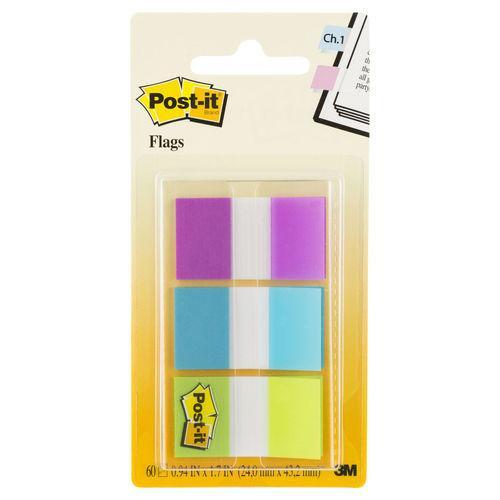Flags Post-It 680-Pbg Purp/Blu/Grn 60 Flags