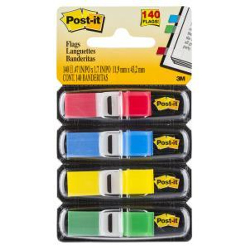 POST- IT FLAGS 683-4 MINI ASSORTED COLOURS