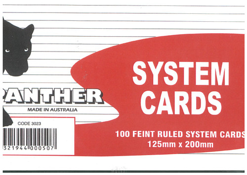 System Cards Asst 125X200 White Ruled Pack Of 100