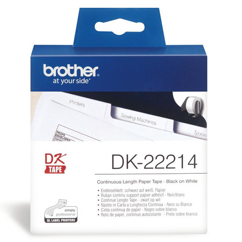 Brother Dk22214 White Roll - 12Mm X 30.48M Film Roll