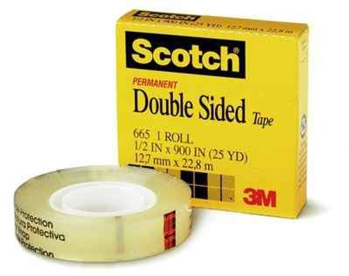 Tape Double Sided Scotch 665 12.7Mmx22.8M Boxed