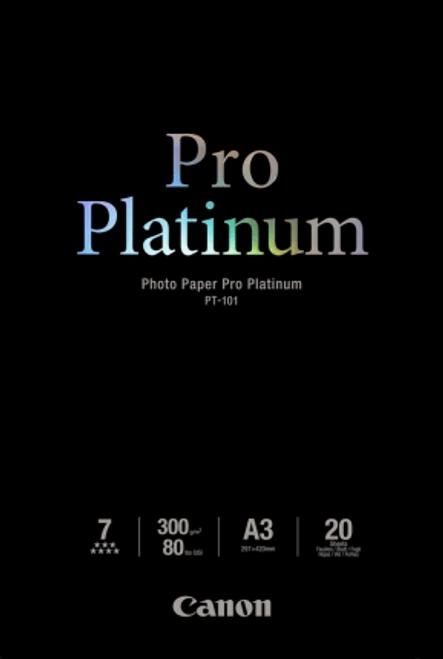 Canon Photo Paper Pro Platinum  A3  20 Sheets - 300gsm