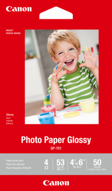 Canon 4X6 Glossy Photo Paper - 50 Sheets