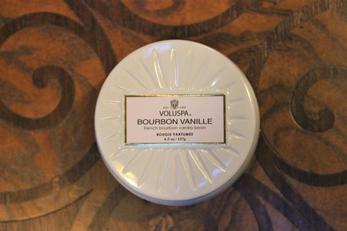 Petite Decorative Tin Candle - Bourbon Vanille