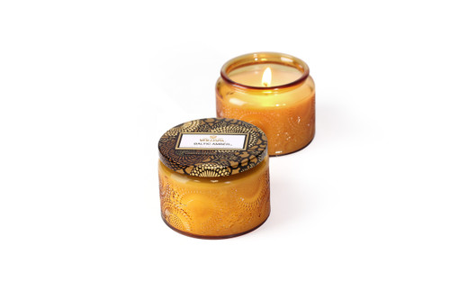 voluspa japonica limided edition baltic amber glass jar candle 3.2oz