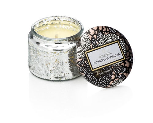 Voluspa Limited Edition Yashioka Gardenia Petit Candle w/ Metallic Lid