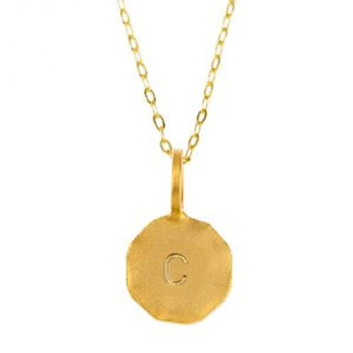 "CHARLENE K - Initial Pendant Necklace 14K Vermiel - 17"""