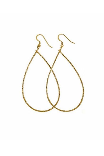 CHARLENE K   14K Vermeil Teardrop Hoop Earrings