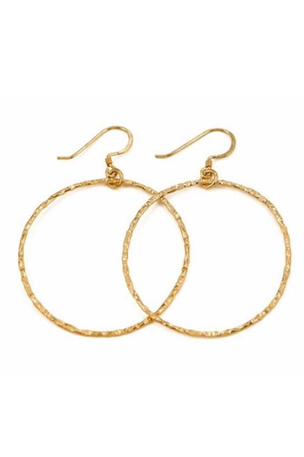 CHARLENE K    14K Gold Vermeil Hoop Earrings