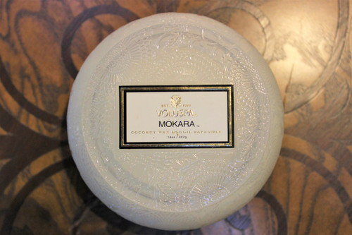 Chawan Bowl 2 Wick Glass Candle - Mokara