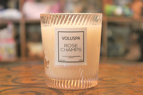 Classic Glass Candle - Rose Champs