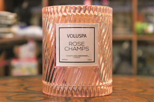 Icon Cloche Cover Candle - Rose Champs