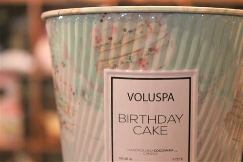 2 Wick Tin Table Candle  - Birthday Cake