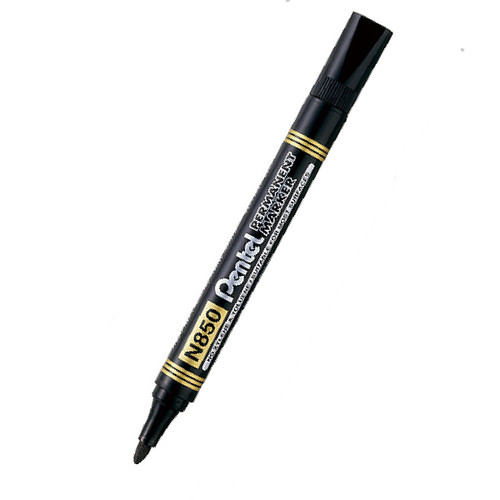 Marker Pentel N850A Permanent Bullet Point Black Box of 12