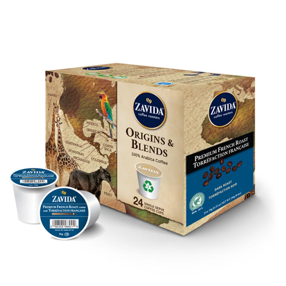 Premium French Roast Single Serve Coffee Cups - 24ct