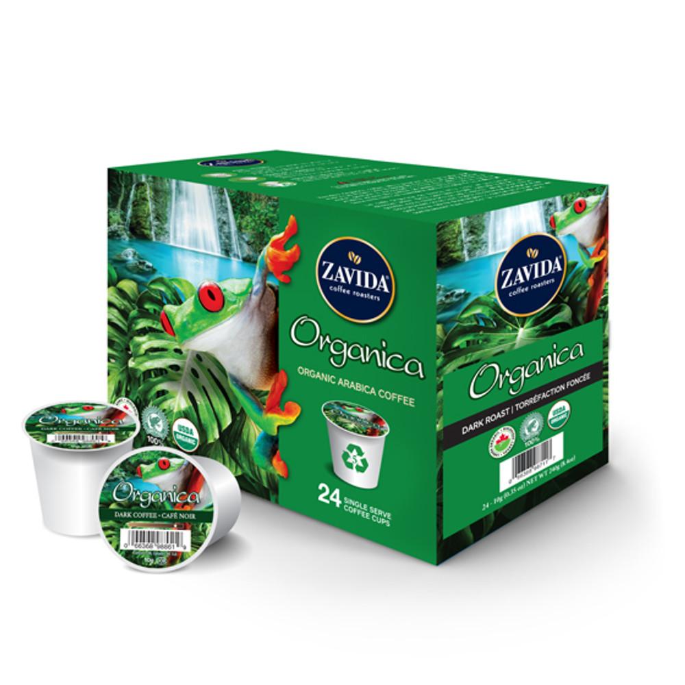 Organica Dark Roast Single Serve Coffee Cups - 24ct