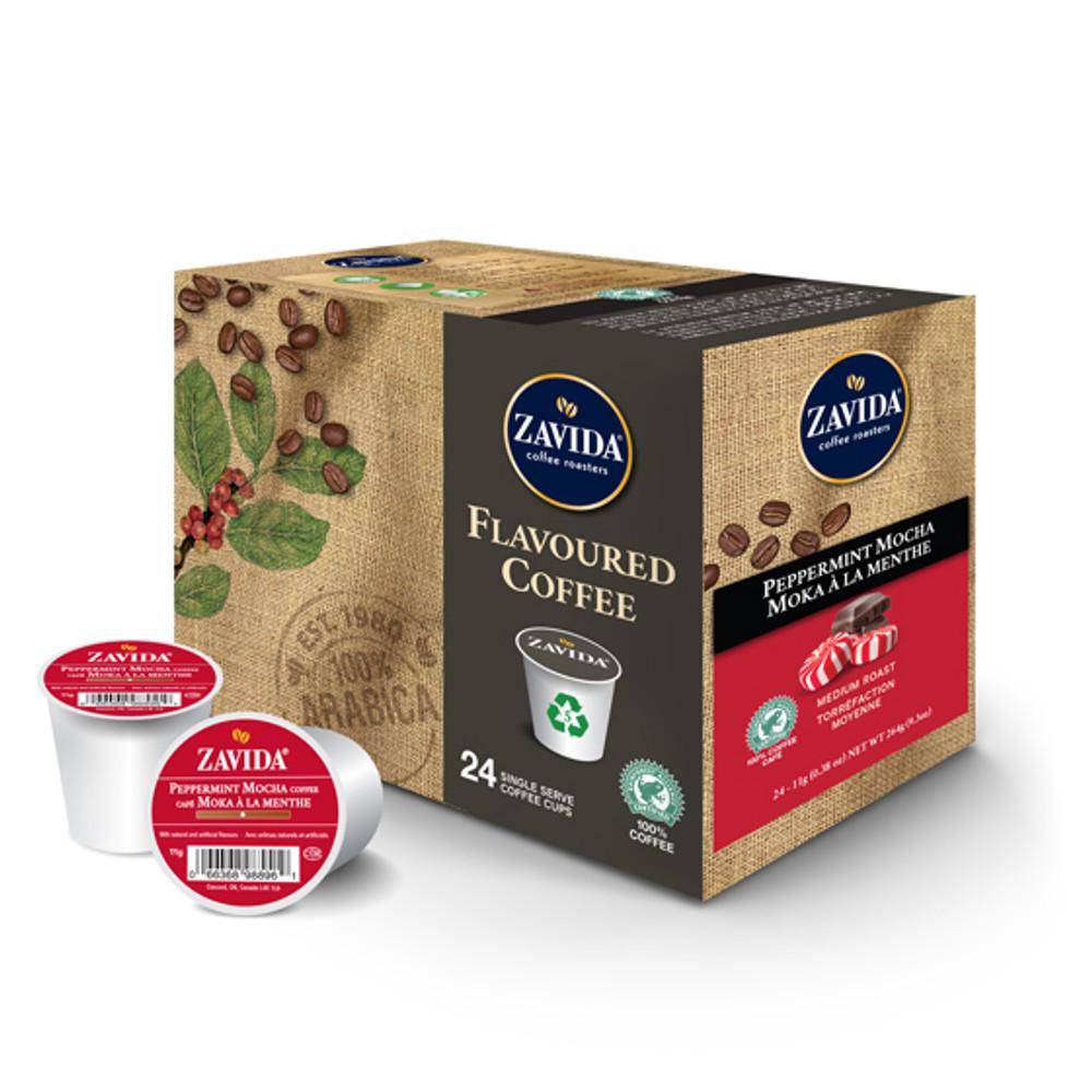Peppermint Mocha Single Serve Coffee Cups - 24ct