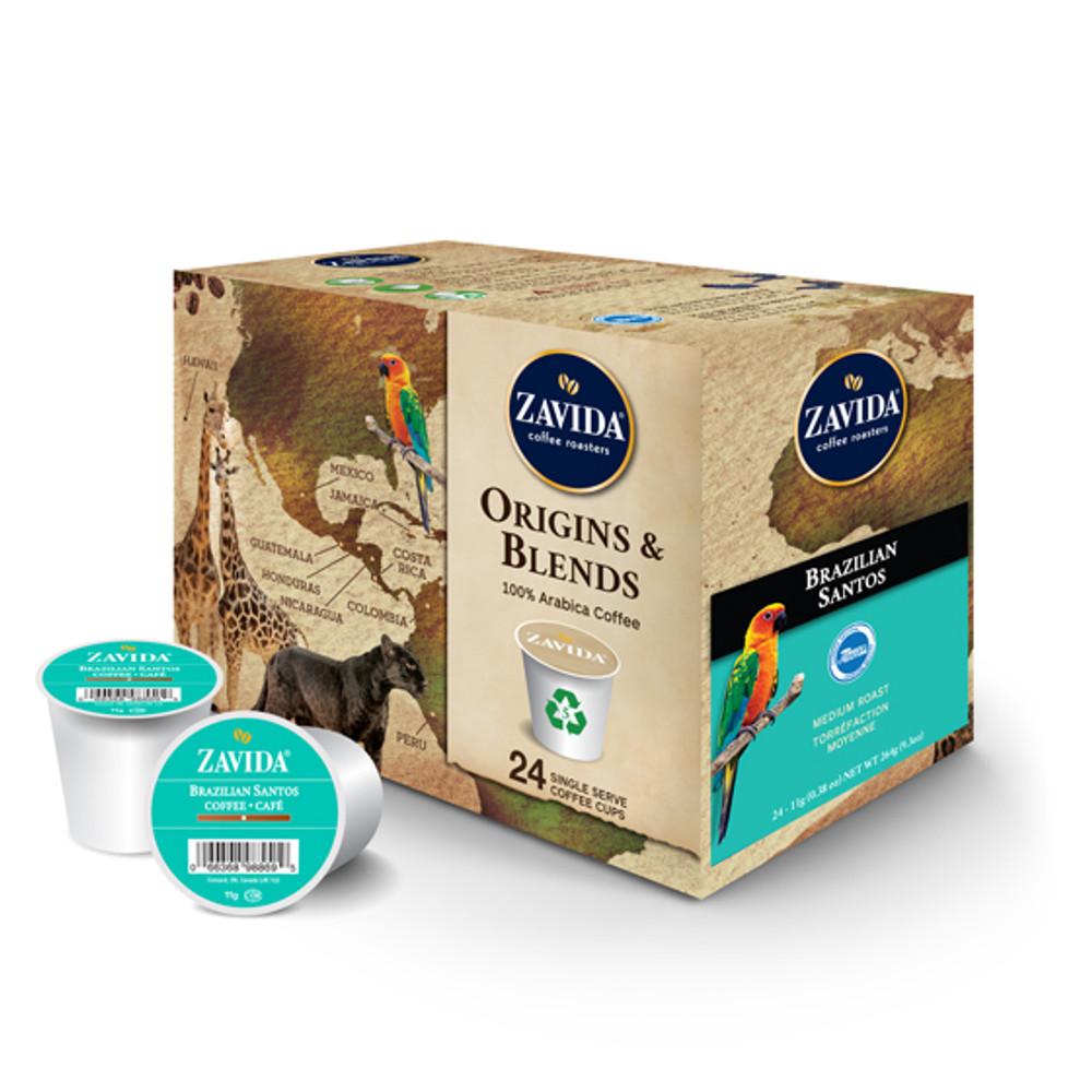 Brazilian Santos Single Serve Coffee Cups - 24ct