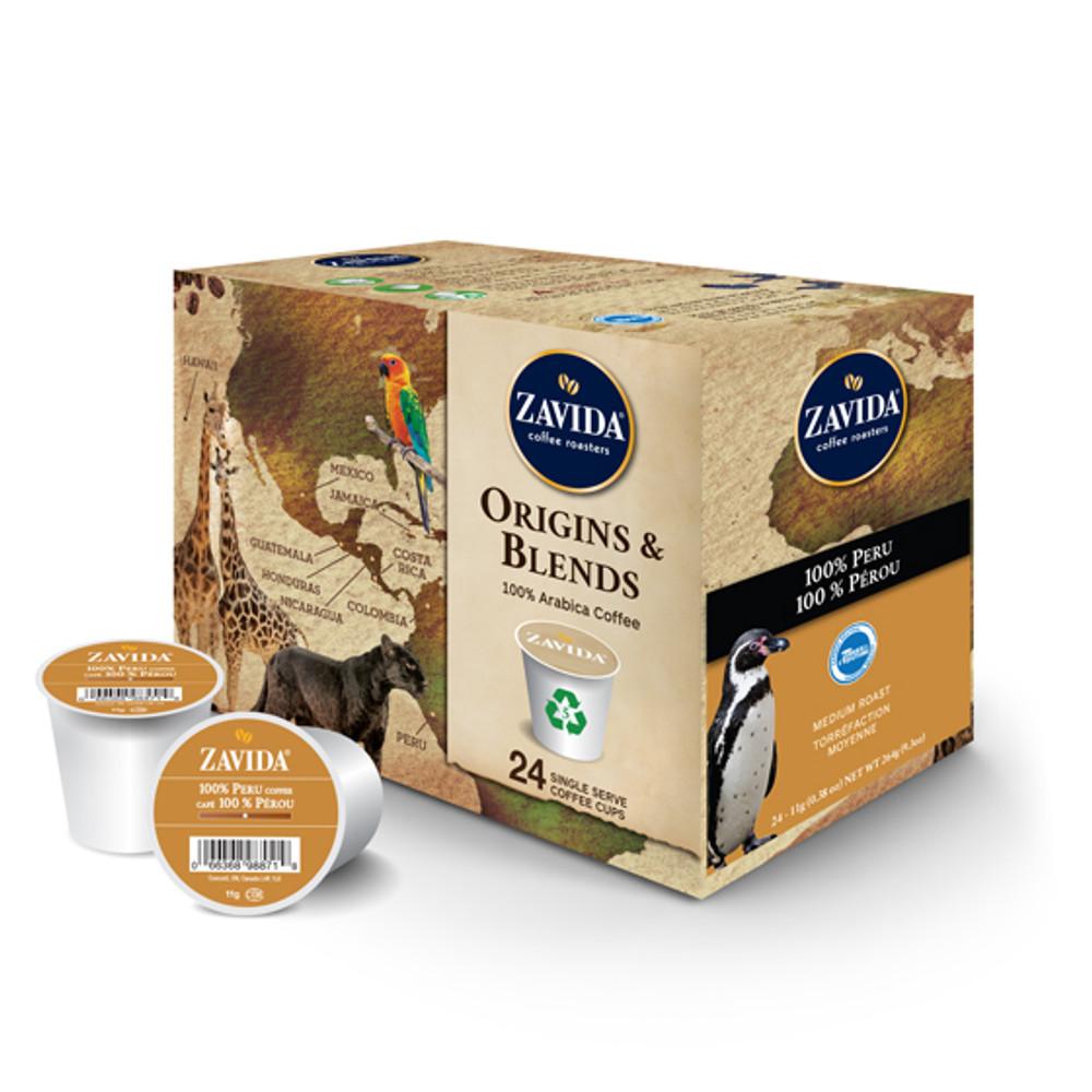 100% Peru Single Serve Coffee Cups - 24ct