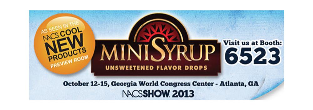 Zavida Coffee and MiniSyrup Return to NACS 2013