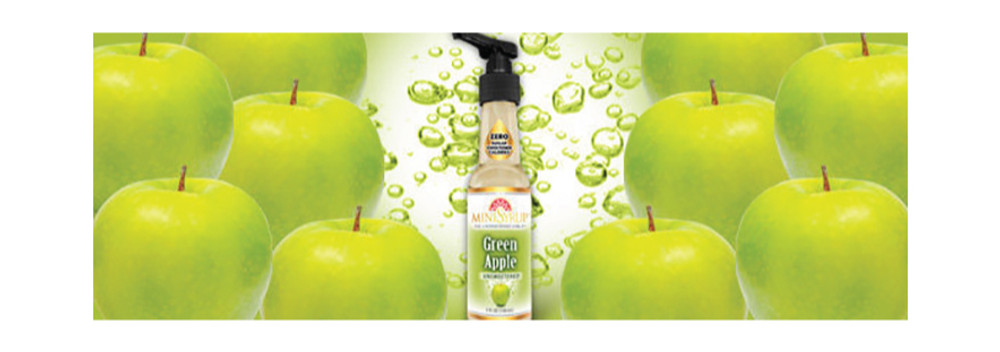 Introducing MiniSyrup Green Apple Flavour Drops