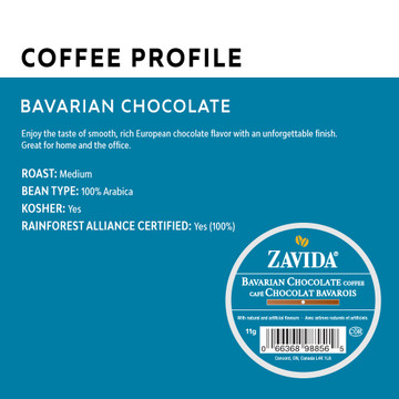 Bavarian Chocolate Single Serve Coffee Cups - 24ct