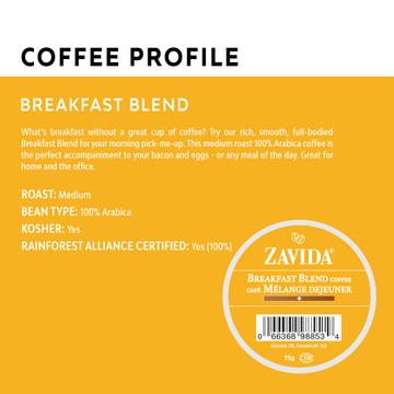 Breakfast Blend Single Serve Coffee Cups - 24ct