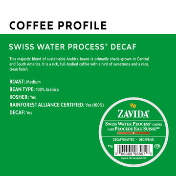 Decaf Swiss Water® Process Single Serve Coffee Cups - 24ct