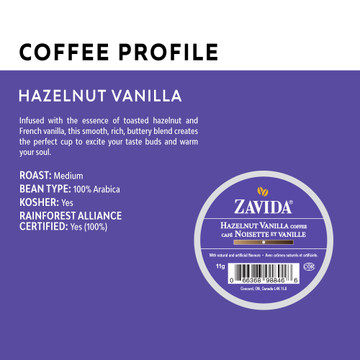 Hazelnut Vanilla Single Serve Coffee Cups - 24ct