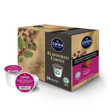 Raspberry Chocolate Dark Roast Single Serve Coffee Cups - 24ct