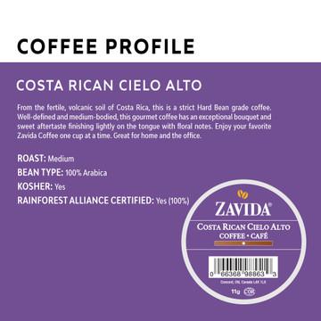 Costa Rican Cielo Alto Single Serve Coffee Cups - 24ct