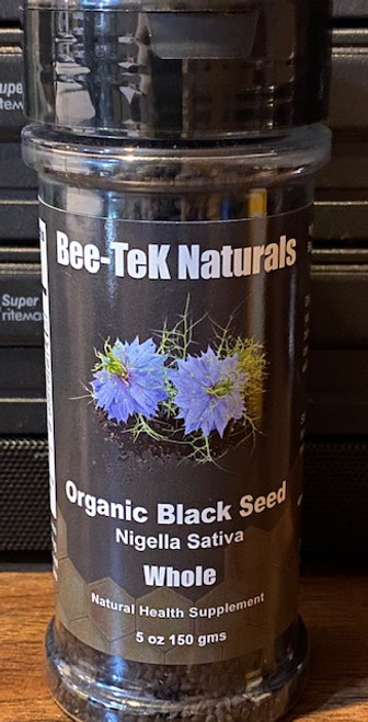 Organic Black Seed (Nigella Sativa / Whole) -5 Oz Jar