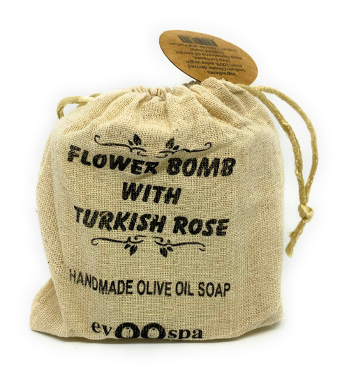 Flower Bomb with Turkish Rose – Olive Oil Soap