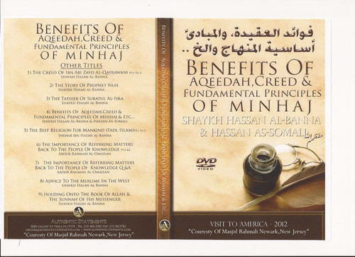 Benefit of Aqeedah,creed & Fundamental Principles of Minhaj by Shaykh Hasan al Banna & Hassan al-Somali
