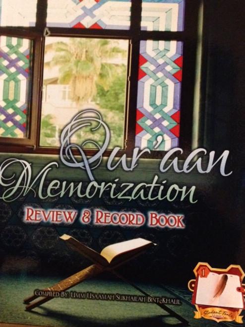 Qur'aan Memorization (Review & Record Book) By Taalib.com